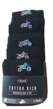 BNWT NEXT Men's Cotton Rich Socks 5 Pack Size 9 - 11 Reinforced Toe & Heel
