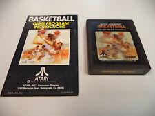 Atari 2600 Basketball Game Cartridge with Instruction Manual - Tested