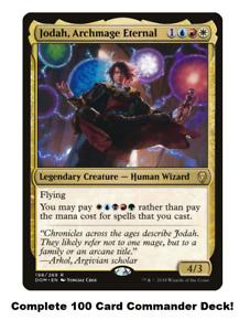 Jodah, Archmage Eternal Commander Deck EDH 100 Magic Cards Custom Deck MTG