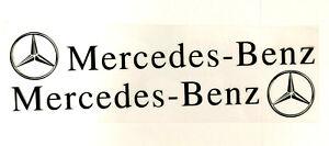A Pair Amazing Car Body/Door Stickers Decals Graphic For Mecedes Benz (Black)