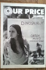 DINOSAUR Jnr Green Mind (OP) 1991 UK Poster size Press ADVERT 16x12 inches