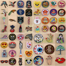 Embroidered Sew Iron On Patches Badge Transfer Fabric Bag Clothes Applique Trim
