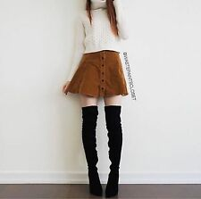 Brandy Melville brown button down Brya  Corduroy skater skirt NWT
