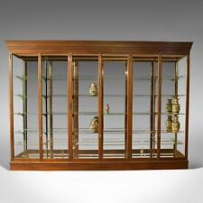 Very Large, Antique Shop Display Cabinet, Victorian, Mirror-Back Cabinet, c.1900