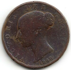 1848 Great Britain Half Penny