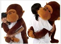 Brown Lovely Giant Big Soft Stuffed Plush Monkey Huge 110CM Doll Toy Gift 2019