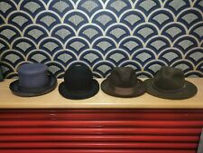 4 Hats Bowler hat top hat trilby Bailey of hollywood Gothic halloween