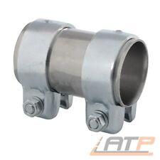 Auspuff Rohr Doppelschelle für Ø52mm Rohre - Länge = 125mm verzinkt