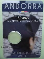 Andorra 2 Euro Münzkarte 2016 Reform CoinCard Folder leer empty