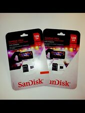 2 NEW 128GB SanDisk MicroSD Cards (256GB total) (FROM USA) (For Phone,Camera...)