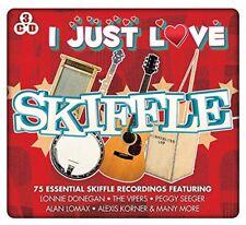 I JUST LOVE SKIFFLE 3 CDs Lonnie Donegan Vipers Seegar