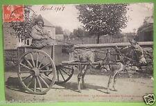 RARE CARTE POSTALE MANCHE 50 - SAINT PAIR SUR MER LA MARCHANDE DE COQUES - 1908
