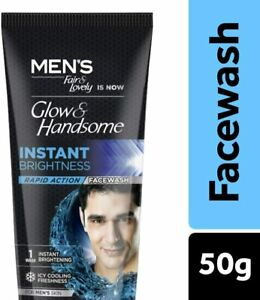 50 gm Men Fair & Lovely Glow & Handsome Instant Brightness Rapid Action Facewash