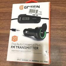 Griffin Itrip Auto Universal Plus FM Transmitter For Car Radio Play Phone Charge