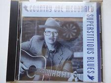 COUNTRY JOE MCDONALD <>  Superstitious Blues  <> VG+ (CD)