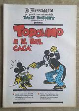 Topolino e il bel Gagà  - Fumetto Il Messaggero Walt Disney