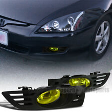 For 2003-2005 Accord 2D  Coupe Driving Fog lights Bumper Lamp Yellow+Switch