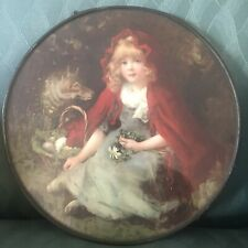 Vintage Stove Pipe Chimney Flue Cover Little Red Riding Hood