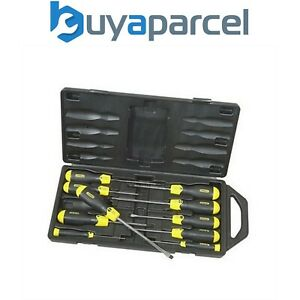 Stanley Cushion Grip 10 Screwdriver Set Magnetic Tips STA265014 2-65-014