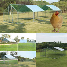 6-Size Metal Chicken Run & Coop For Hens Duck Poultry Rabbit Goose Walk-In House
