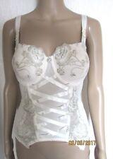 Wedding Corset Ivory Bridal Basque/SUSPENDER Sexy Lingerie Underwear SIZE 32DD