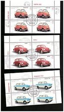 GERMANY DEUTSCHLAND 2002 CARS SET OF 5 IN BLOCKS OF 4 FIRST DAY ISSUE HANOVER