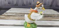 goose decor  figurine duck with flowers
