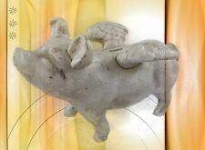 Spardose Riesen altweiss Sparschwein ein saumässiges Geschenk in Vintage Deko