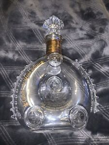 Remy Martin Louis XIII Cognac Baccarat Crystal Decanter Empty Bottle Year 2000