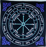 PROFESSIONAL VELVET ASTROLOGY PENDULUM DOWSING MAT, YES, NO, ALPHABET, NUMBERS
