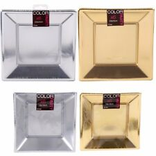 Astounding Silver Square Plastic Plates Images - Best Image Engine ...
