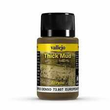VALLEJO WEATHERING EFFECTS - EUROPEAN THICK MUD 40ML - 73.807