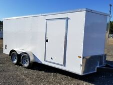 Enclosed Cargo Trailer 7x16 7 x 16 TA In Stock Ramp V-Nose Motorcycle 18 14