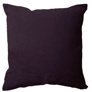 Ma09a Purple Soft Velvet Style Cotton Blend Cushion Cover/Pillow CaseCustom Size