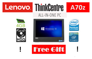 Lenovo WINDOWS 10 ALL IN ONE A70z Dual Core 2.80 GHz 320 GB WARRANTY FREE GIFT