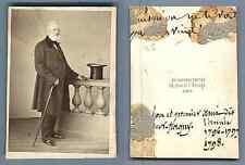 Richebourg à Paris, homme au chapeau CDV vintage albumen carte de visite,  Tir