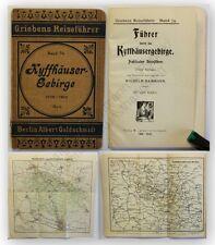 Dammann Griebens Reiseführer Kyffhäusergebirge 1909 Geographie Ortskunde xy