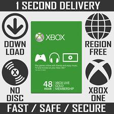 Membresía Xbox Live Gold - 48 H/2 días de prueba para Xbox One y Xbox 360