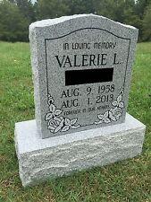 Granite Memorial Headstone DIe & Base (5 Options)