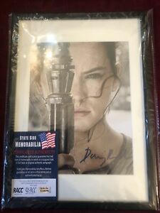 Framed Hand Signed Daisy Ridley - Rey - Star Wars - Force Awakens inc. COA
