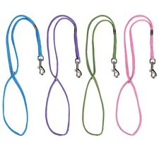 "4-DELUXE 24"" Braided Heavy Duty GROOMING LOOPS NYLON RESTRAINT Noose PET DOG CAT"