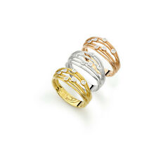 14k artisan yellow rose or white gold wrapped wire diamond ring TCW0.05ct H/SI