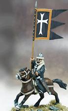 Gripping Beast - SAGA - Military order war banner & bearer (hospitaller) - 28mm