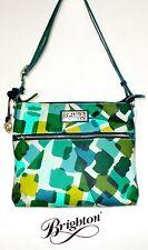"Brighton ""Hadley"" Coated Canvas Multi-colored Messenger Handbag - NWT - $175"