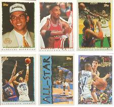 1994-95 Topps  NBA Basketball Series 1  Complete base card Set (#1 - 198)