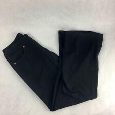 Athleta Womens Bettona Classic Pants Black Elastic Waist Stretch Petite XXSP