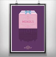 El Grand Budapest Hotel Minimalista mínima pelicula peli arte cartel impresión