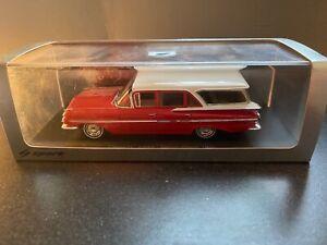 1/43 Spark S2905 - 1959 Chevrolet Impala Station Wagon - Red/White