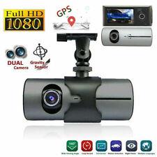 2.7'' Car DVR Dash Cam Dual Lens GPS Camera Video Recorder G-Sensor Night Vision