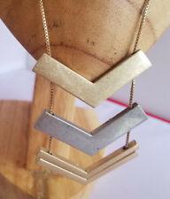 Metal Matte Adjustable Length Modern Fashion Metal Chevron Gold and Silver Tone